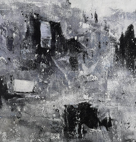Image of Black and white modern paintings | Black and white modern art paintings F78-3