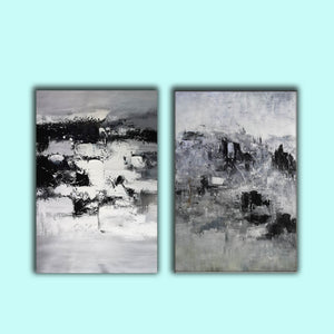 Black and white modern paintings | Black and white modern art paintings F78-4
