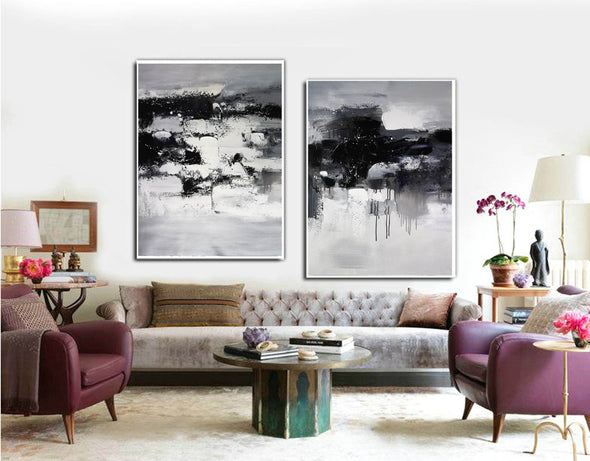 Black and white paintings | Black and white art F79-10