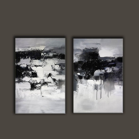 Black and white paintings | Black and white art F79-5