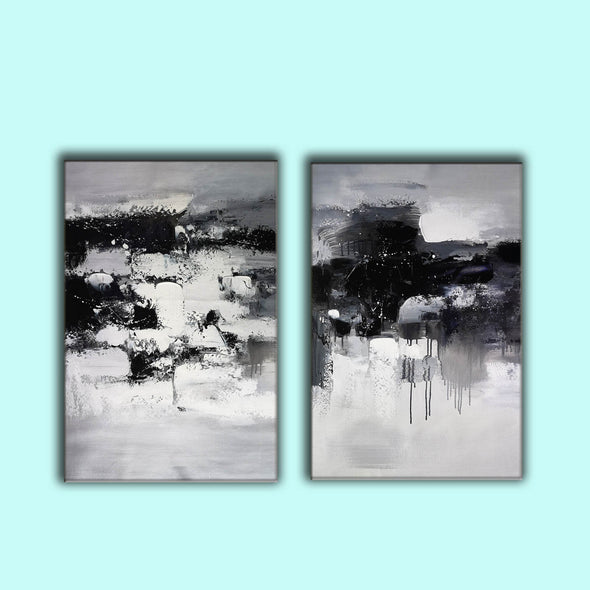 Black and white paintings | Black and white art F79-7