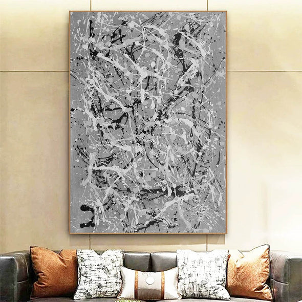 Black and white wall art for bedroom | Black and white contemporary paintings F170-10