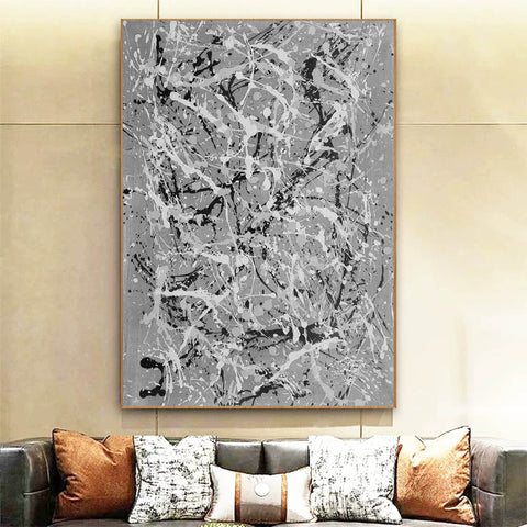 Image of Black and white wall art for bedroom | Black and white contemporary paintings F170-10
