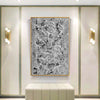 Black and white wall art for bedroom | Black and white contemporary paintings F170-8