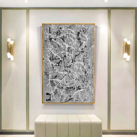 Image of Black and white wall art for bedroom | Black and white contemporary paintings F170-8