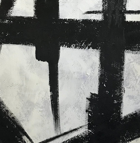 Image of Black white abstract | Black & white paintings contemporary F94-2