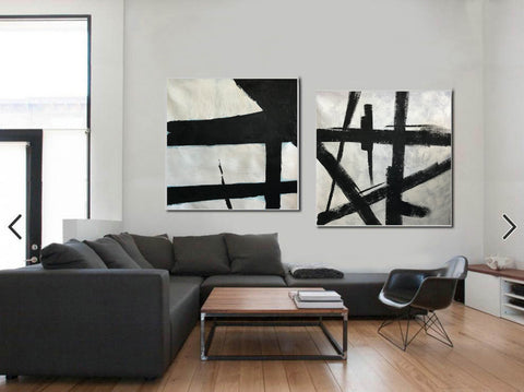 Image of Black white wall art | Black white art F109-10