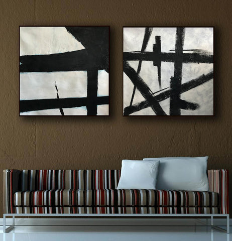 Image of Black white wall art | Black white art F109-2