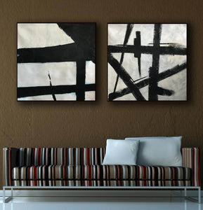 Black white wall art | Black white art F109-2