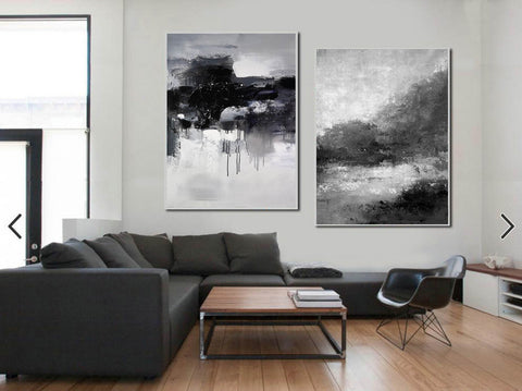 Image of Black white wall art | Black and white canvas art F82-6