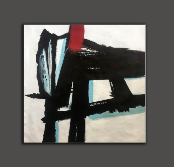 Contemporary canvas painting | Long abstract painting F182-2