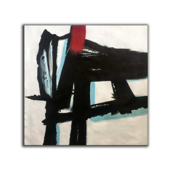 Contemporary canvas painting | Long abstract painting F182-6