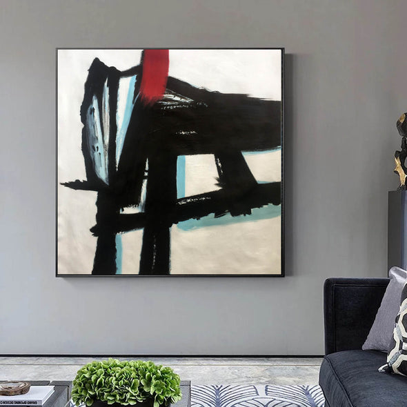 Contemporary canvas painting | Long abstract painting F182-8