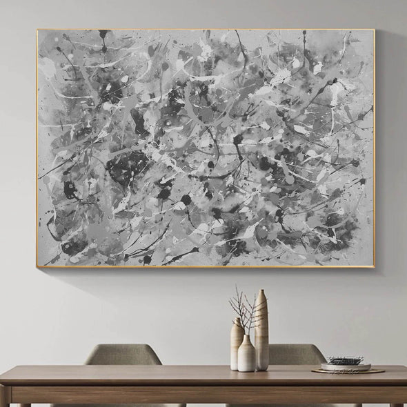 Black and white abstract art | Black and white wall art F153-1
