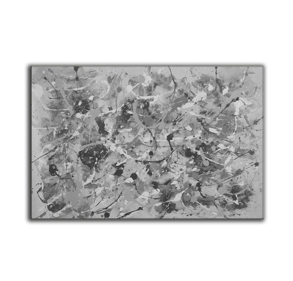 Black and white abstract art | Black and white wall art F153-5