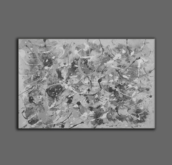 Black and white abstract art | Black and white wall art F153-6