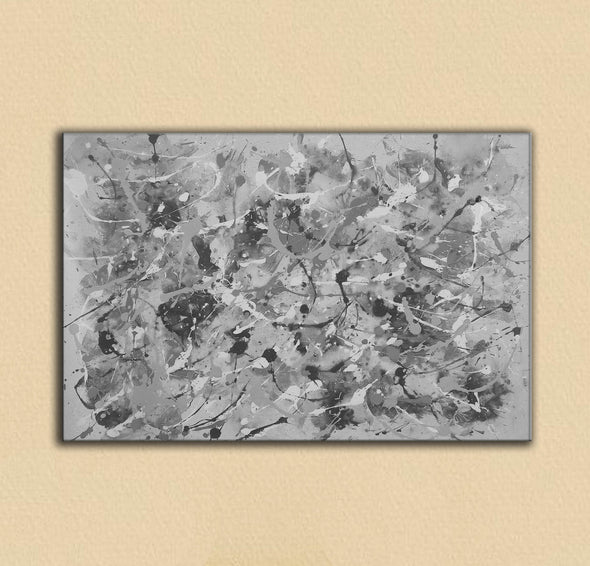 Black and white abstract art | Black and white wall art F153-7