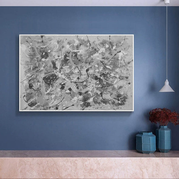 Black and white abstract art | Black and white wall art F153-8
