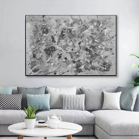 Black and white abstract art | Black and white wall art F153-9