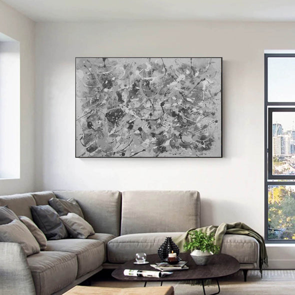 Black and white abstract art | Black and white wall art F153-2
