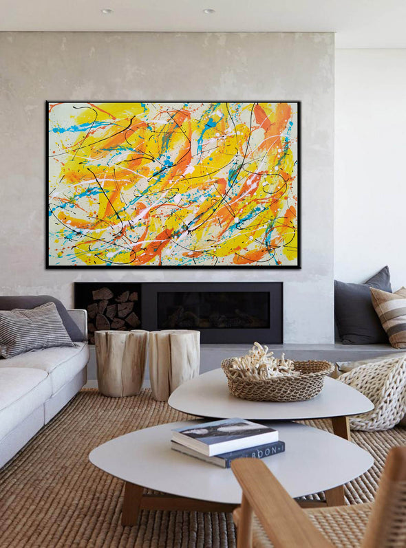 Canvas art painting | Acrylic abstract art F158-1
