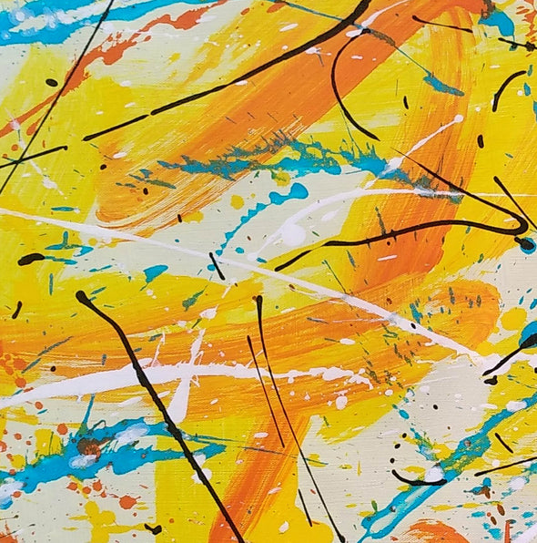 Canvas art painting | Acrylic abstract art F158-3
