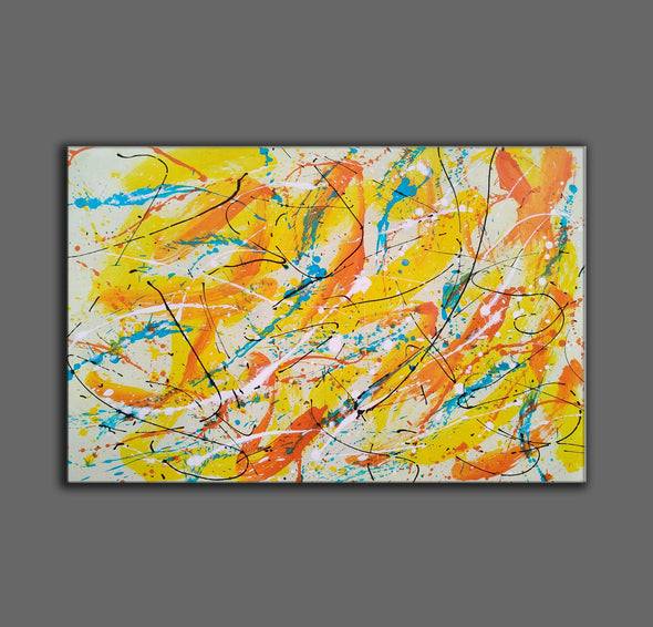Canvas art painting | Acrylic abstract art F158-6