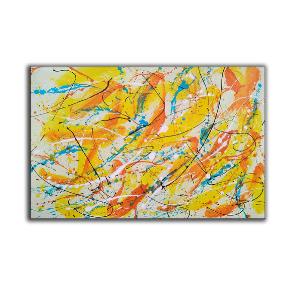 Canvas art painting | Acrylic abstract art F158-8