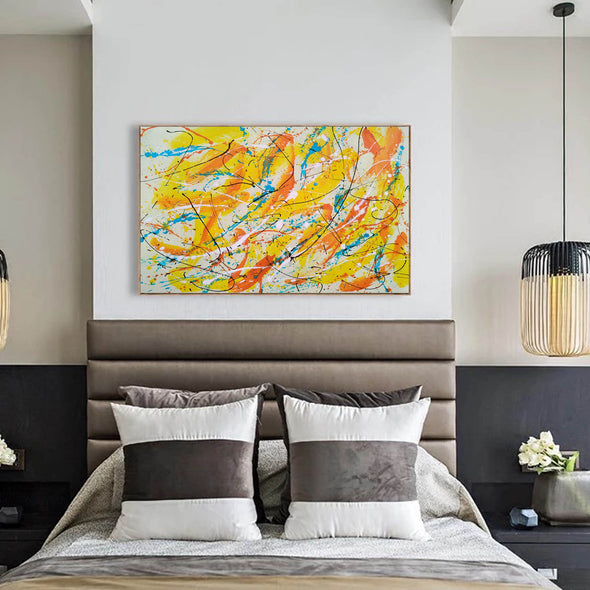 Canvas art painting | Acrylic abstract art F158-2