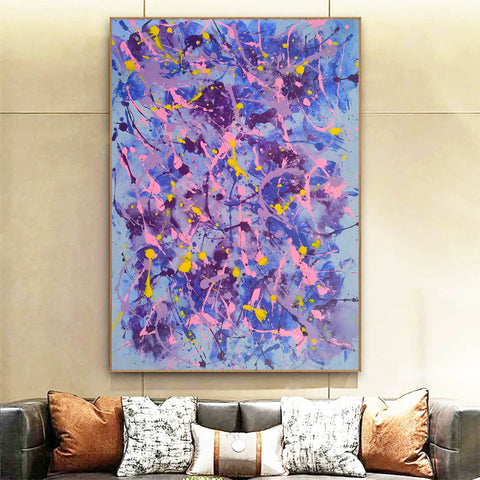Image of Different types of abstract painting | An abstract painting with acrylics F173-10