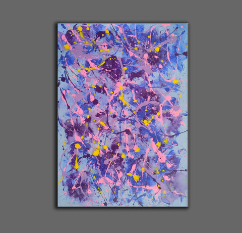 Image of Different types of abstract painting | An abstract painting with acrylics F173-5