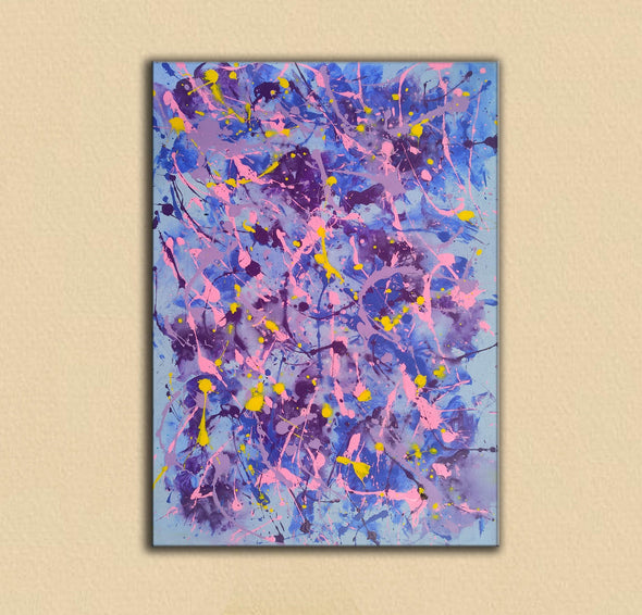 Different types of abstract painting | An abstract painting with acrylics F173-6