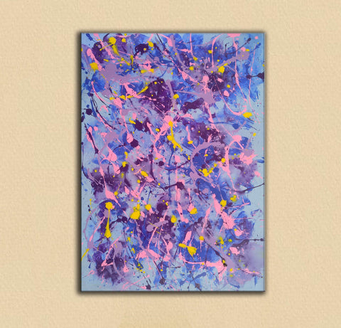 Image of Different types of abstract painting | An abstract painting with acrylics F173-6