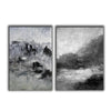 Oversized black and white canvas art F83-9