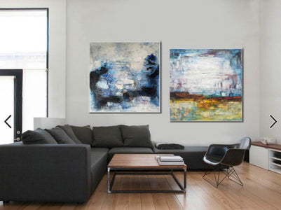 Large original abstract art   Abstract oil painting on canvas F139-10