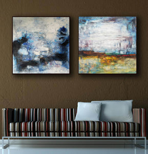 Large original abstract art   Abstract oil painting on canvas F139-7