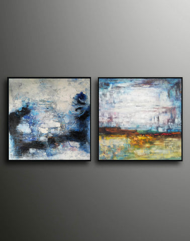 Large original abstract art   Abstract oil painting on canvas F139-8