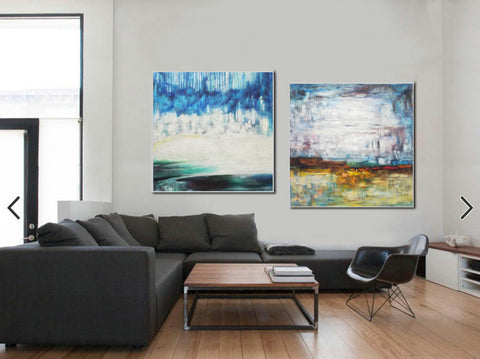 Large original abstract art   Abstract oil painting on canvas F140-10