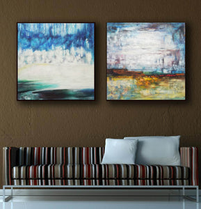 Large original abstract art   Abstract oil painting on canvas F140-7