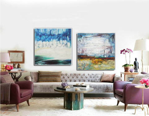 Large original abstract art   Abstract oil painting on canvas F140-9