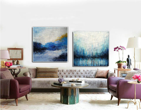 Image of Large painting canvas  Abstract expressionism art  Abstract art paintings F120-10