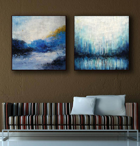 Image of Large painting canvas  Abstract expressionism art  Abstract art paintings F120-7