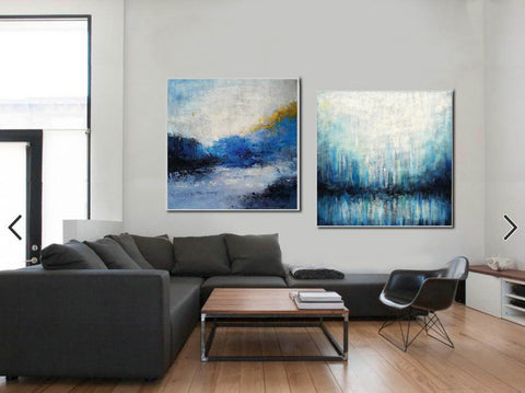 Image of Large painting canvas  Abstract expressionism art  Abstract art paintings F120-9