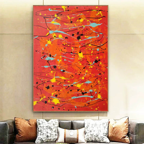 Image of Modern contemporary art  Canvas art painting  Acrylic abstract art F166-1