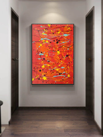 Image of Modern contemporary art | Canvas art painting | Acrylic abstract art F166-9