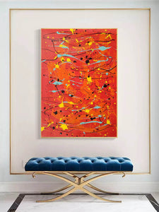 Modern contemporary art | Canvas art painting | Acrylic abstract art F166-10