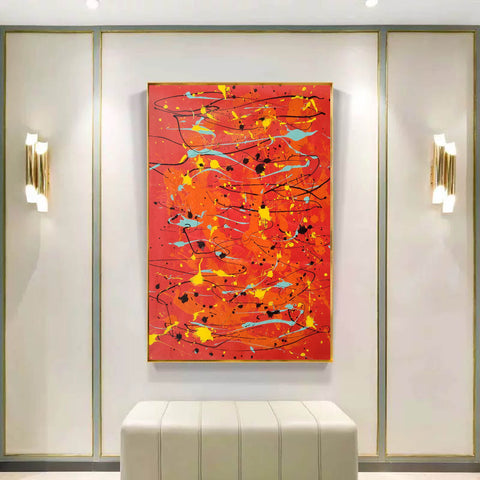 Image of Modern contemporary art | Canvas art painting | Acrylic abstract art F166-4