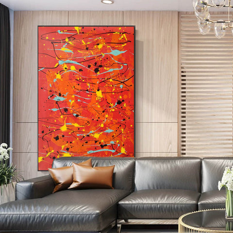 Image of Modern contemporary art | Canvas art painting | Acrylic abstract art F166-2