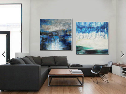 Image of Modern oil paintings  Modern abstract painting  Large abstract painting F124-10