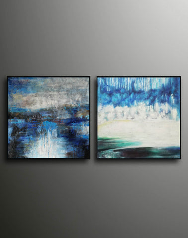 Image of Modern oil paintings  Modern abstract painting  Large abstract painting F124-1
